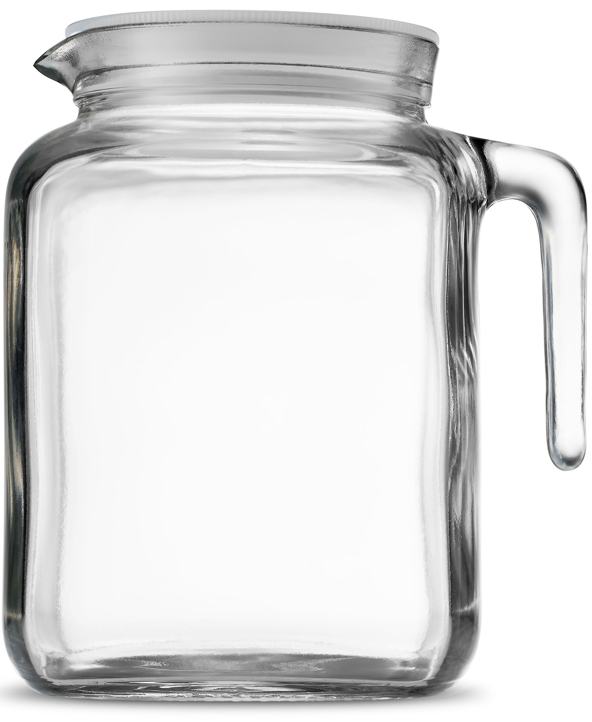 Bormioli Rocco Hermetic Seal Glass Pitcher With Lid and Spout [68 Ounce] Great for Homemade Juice & Iced Tea or for Glass Milk Bottles by Bormioli Rocco