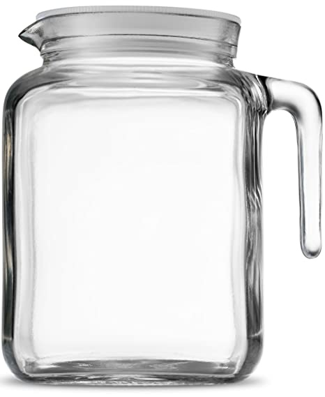 Amazoncom Bormioli Rocco Hermetic Seal Glass Pitcher With Lid And