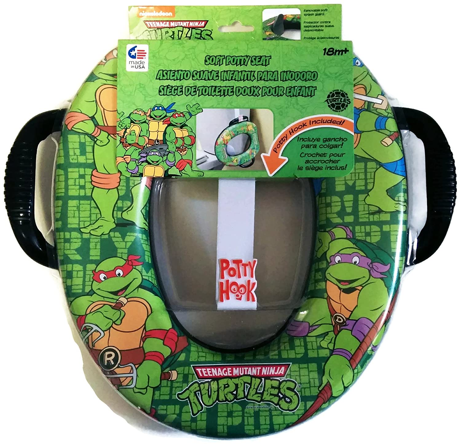 Teenage Mutant Ninja Turtles Soft Potty Seat with Potty Hook for Hanging Ginsey Home Solutions