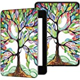 Capa Kindle 10ª geração com iluminação embutida – Auto Hibernação – Fecho Magnético – Árvore Florida