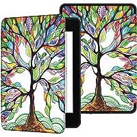 Capa Kindle Paperwhite 10ª geração à prova d'água - Função Liga/Desliga - Fechamento magnético - Árvore Florida