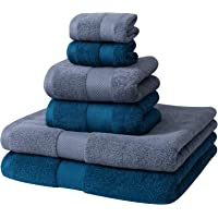 6-Pieces Pretty See Cotton Absorbent Bath Towels Set