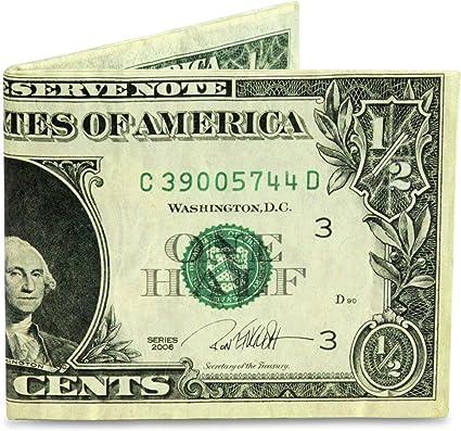 Mighty Wallet - La Cartera Original Tyvek - Diseño de Medio Dólar Inglés Ron