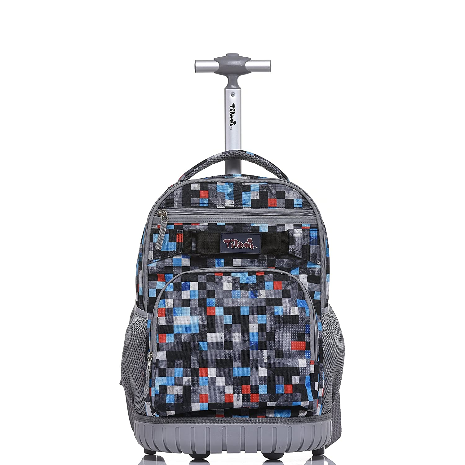 efffa35588fd Amazon.com  Tilami Rolling Backpack 18 inch for School Travel