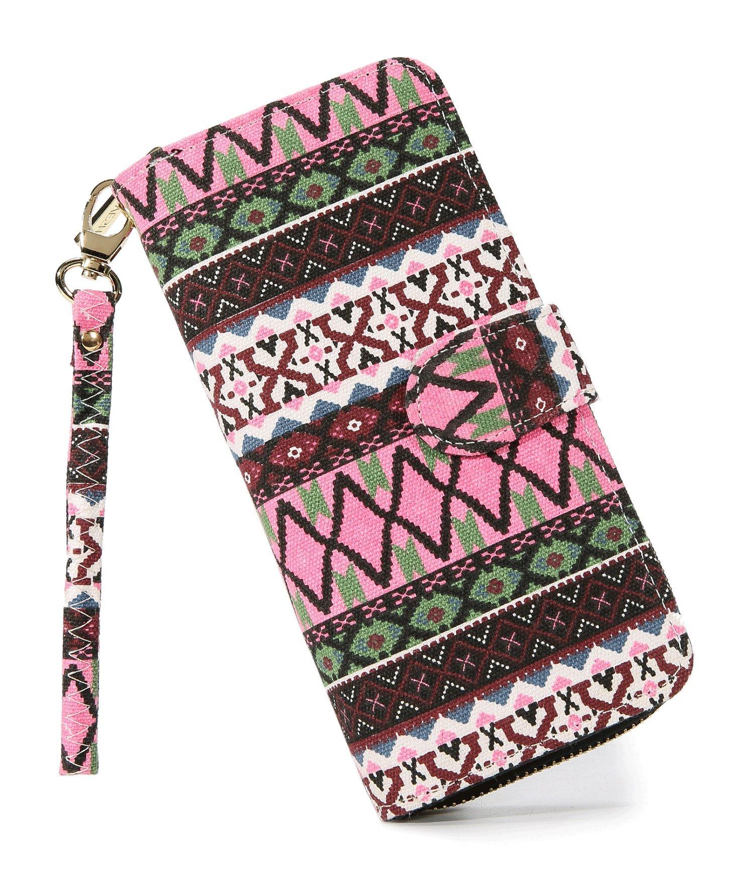 LOVESHE Women's New Design Bohemian Style Purse Clutch Bag Card Holder New Fashion (17X28)