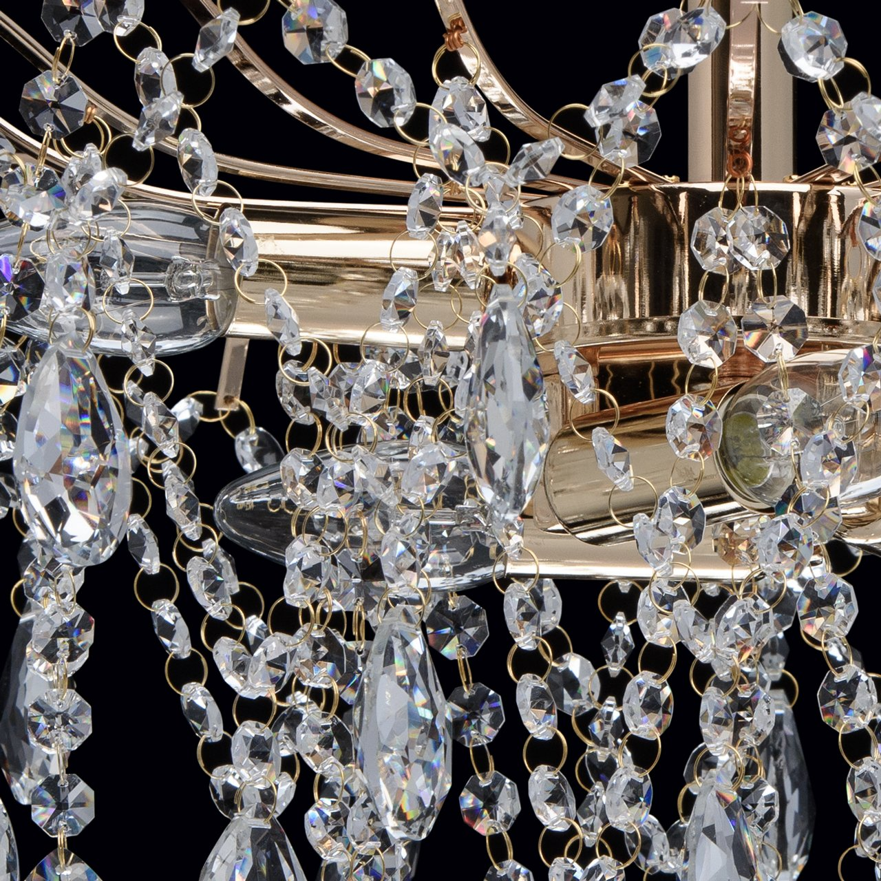 Elegante kompakte Deckenleuchte 6 flammig nickelfarbiges Metall Metall Metall Kristall klar Modern indirektes Licht Lichtspiel Wohnzimmer Schlafzimmer Restaurant Flur exkl.6  60W E14 6bb7c8