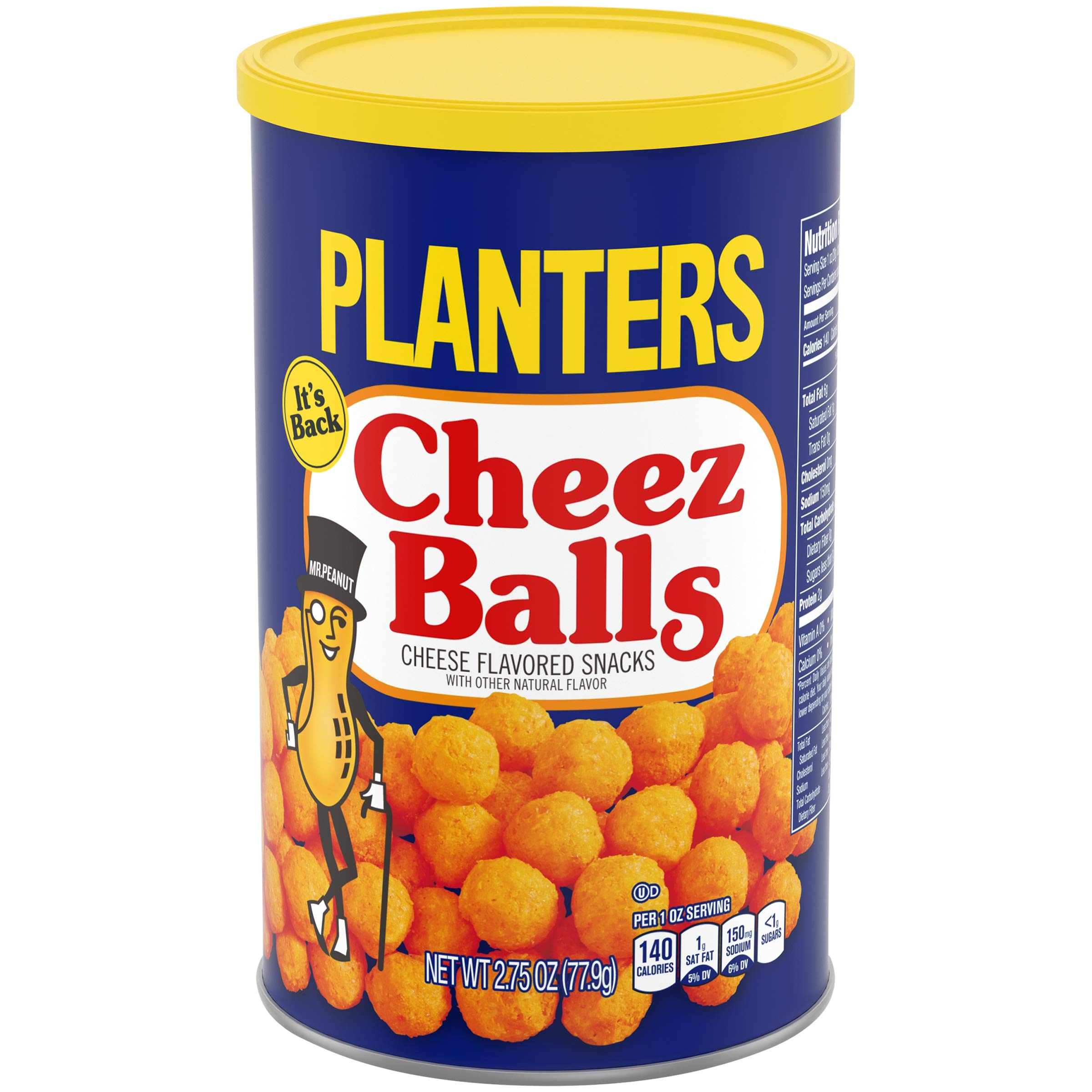 Planters Snack Puffs Cheese Balls (2.75 oz Canisters, Pack of 12) by Planters