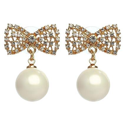 18e4fe12f Amazon.com : MISASHA Celebrity Designer Camellia Rhinestone Stud Earrings :  Everything Else