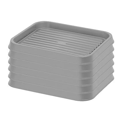 Amazon Com Iris Usa Sht S Shoe Tray Small Gray 6 Pack Home