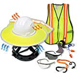 KwikSafety (Charlotte, NC) TORTOISE SHELL PPE KIT (18 Vents) Full Brim ANSI Hard Hat, Safety Glasses, Vests, Tool…