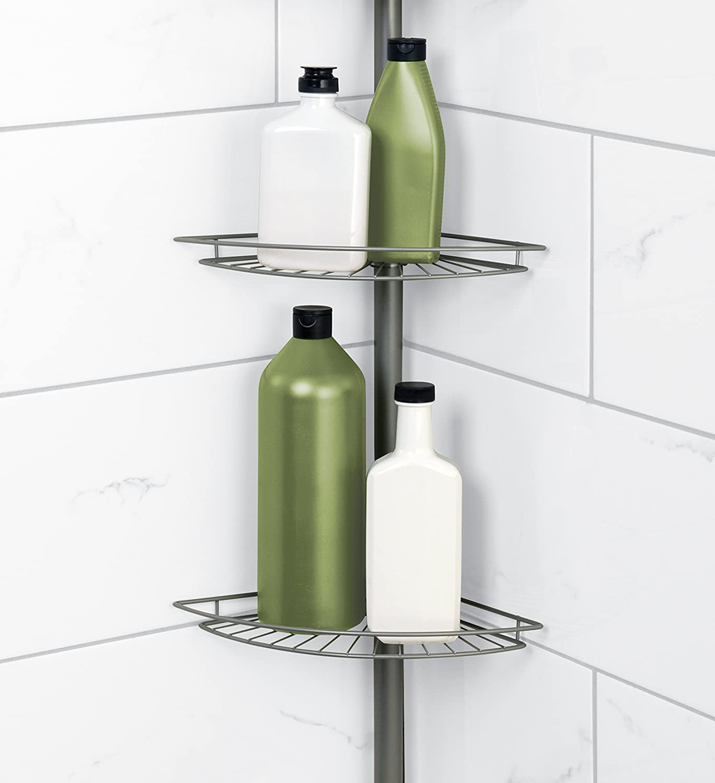 corner shower bath 4 shelf caddy shampoo body wash soap holder new ...