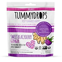 USDA Organic Sweet BlackBerry Ginger Tummydrops (Resealable Bag with 33 Individually Wrapped Drops) Certified by Oregon Tilth Organic, GFCO Gluten-Free, Non-GMO Project, and KOF-K Kosher