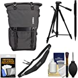 Thule TCDK-101 Covert DSLR Camera / Laptop / Tablet Rolltop Backpack Case with Tripod + Strap + Kit