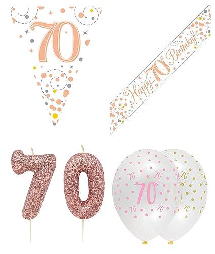Kit de decoración para fiesta de 70 cumpleaños, banderín de ...