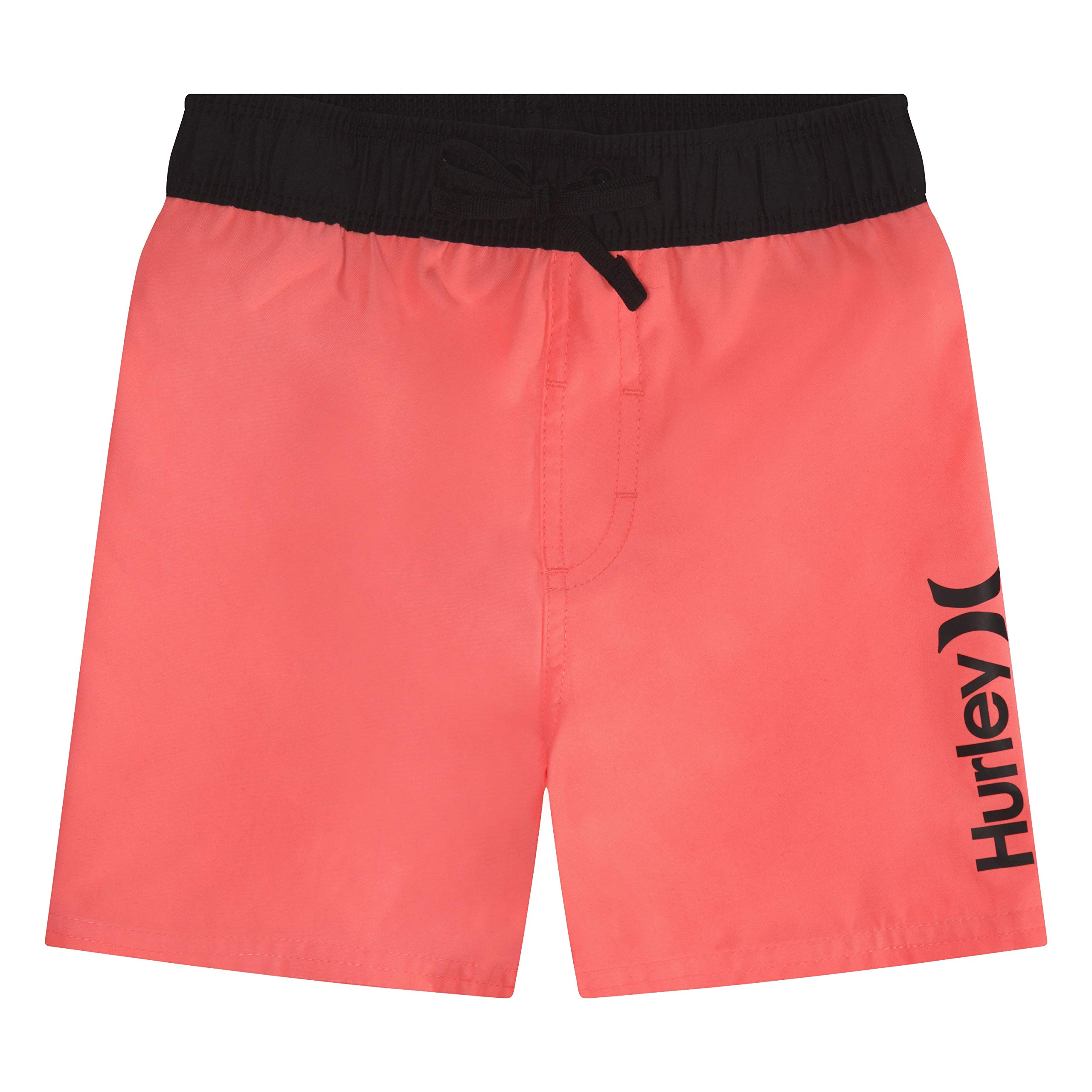 Hurley Boys' Big Pull On Board Shorts, Lava Glow S