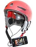 KOKKIA H10 (Càbles NOIRS) Ecouteurs pour casque de moto / de sport (stéréo), basses puissantes et fortes - se branchent sur supports iPods/iPhones/iPads/MP3/CD/Bluetooth à l'aide d'un jack audio de 3,5 mm. Pour les utilisateurs de casques classiques comme pour les utilisateurs casse-cous, adeptes de sports extrêmes, skieurs, snowboarders, etc.