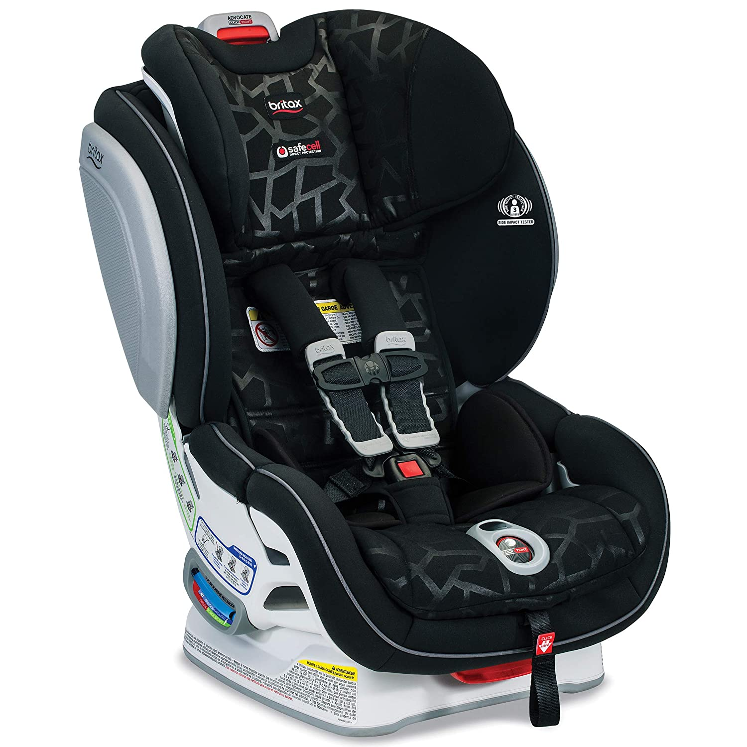 B01N10RCX2 Britax Advocate ClickTight Convertible Car Seat - 3 Layer Impact Protection - Rear and Forward Facing - 5 to 65 Pounds, Mosaic 81Ym5INPUyL