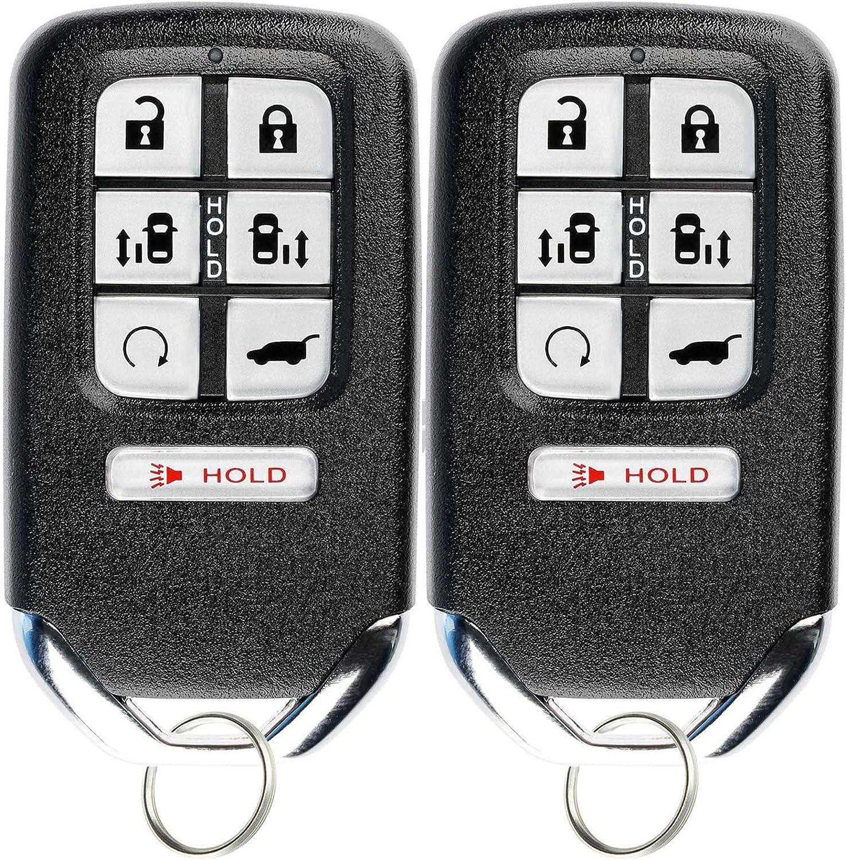 KeylessOption Keyless Entry Remote Start Smart Car Key Fob for Honda Odyssey 2018 2019 2020 KR5V2X
