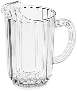 Rubbermaid Commercial FG333500CLR Bouncer Pitcher, 48-Ounce