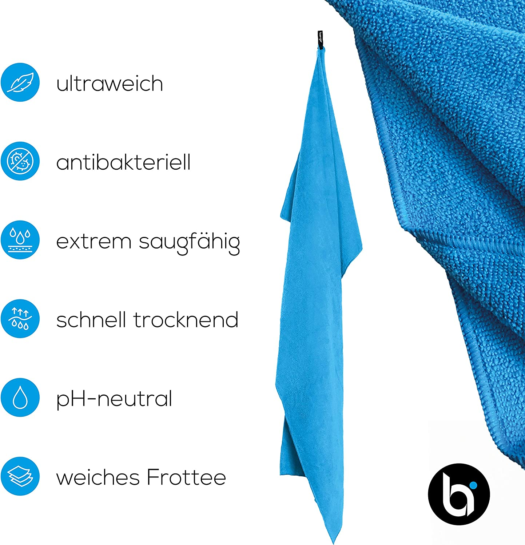 antibakteriell schnell trocknend ultraweich saugf/ähig baenger Mikrofaser Frottee Handtuch Oeko-Tex Zertifikat