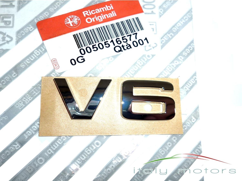 """Alfa Romeo, scritta """" V6"""" , emblema posteriore, 159 e 50516577 scritta V6 159e 50516577"""