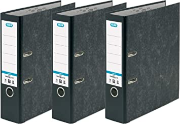 Pack of 6 Black Elba A4 Lever Arch File