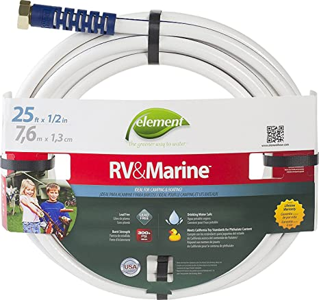 Swan Products ELMRV12025 Element RV & Marine Camping and Boating Water Hose 25 x 1/2