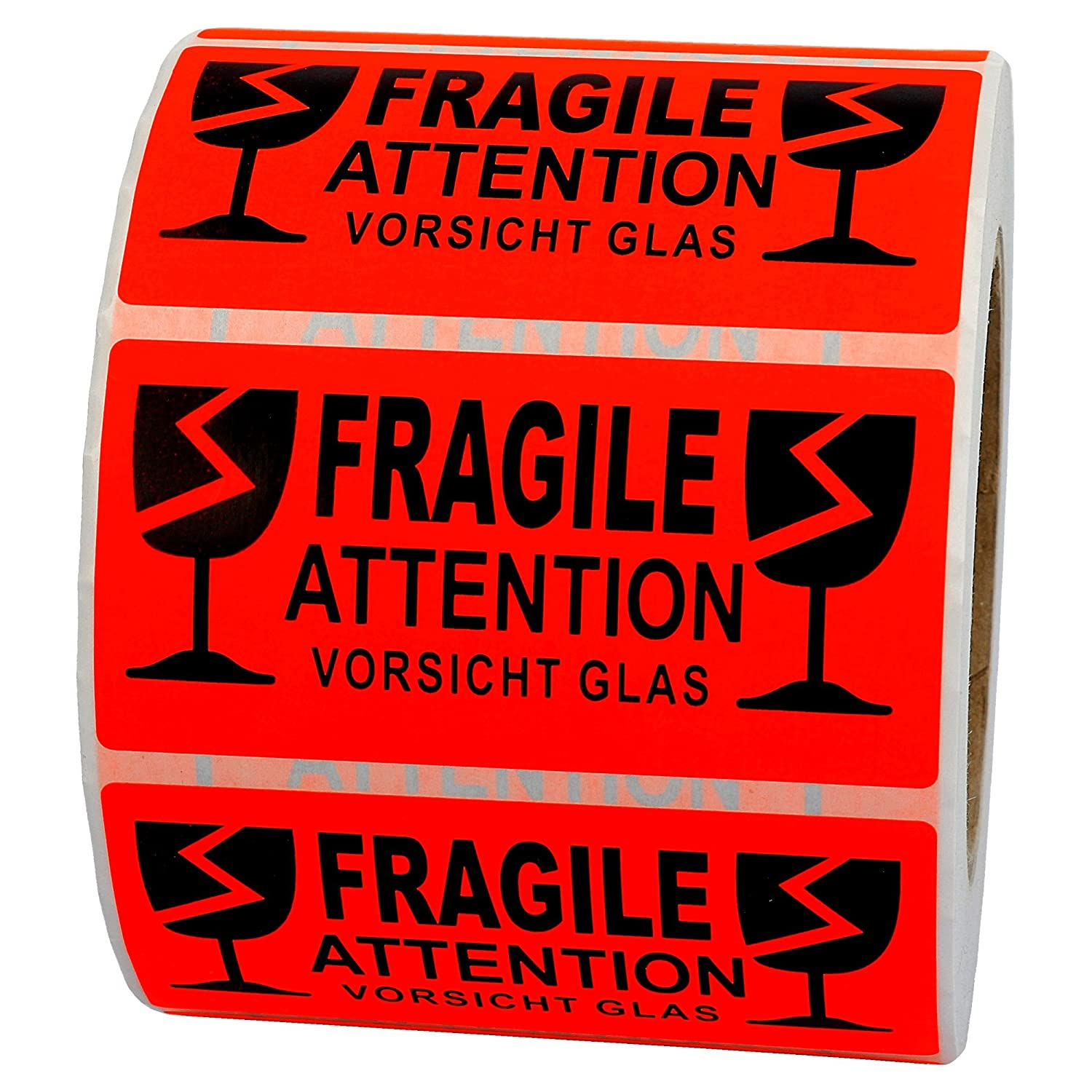 Labelident Warnetiketten 100 X 50 Mm Fragile Attention