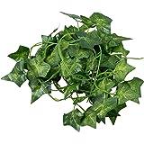 SODIAL (R) 2M 6.6 Feet edera artificiale Foglia falsa Fiori Piante decorazione del giardino 2M (foglie di patata dolce)