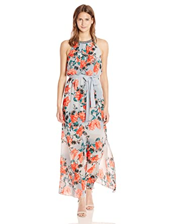 e1d19c52e07 Adrianna Papell Women s Floral Maxi Dress at Amazon Women s Clothing store
