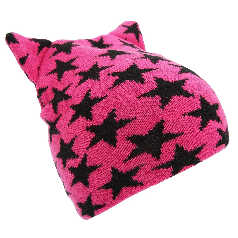 Universal Textiles Childrens Girls Star Pattern Winter Beanie Hat UTHA376_2