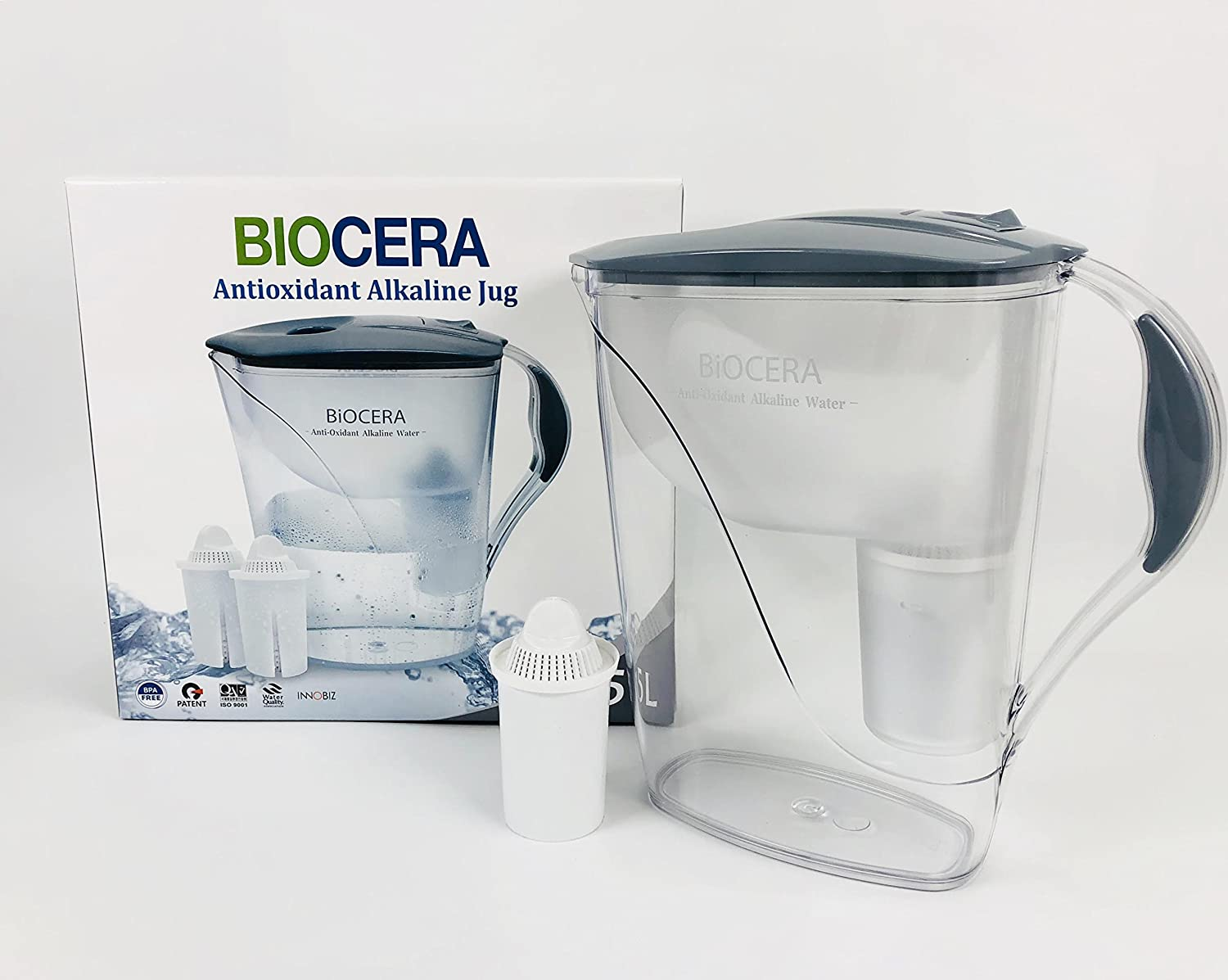 Biocera Alkaline Jug Filter with 2 Cartridges