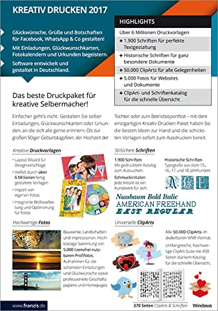 ea830d8de6b6 Franzis Kreativ Drucken 2017: Amazon.de: Software