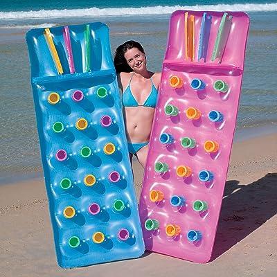 BW Bestway Hinchable 18 Bolsillo Moda Sol Tumbona Piscina Lilo Cama de Aire Estera: Deportes y aire libre