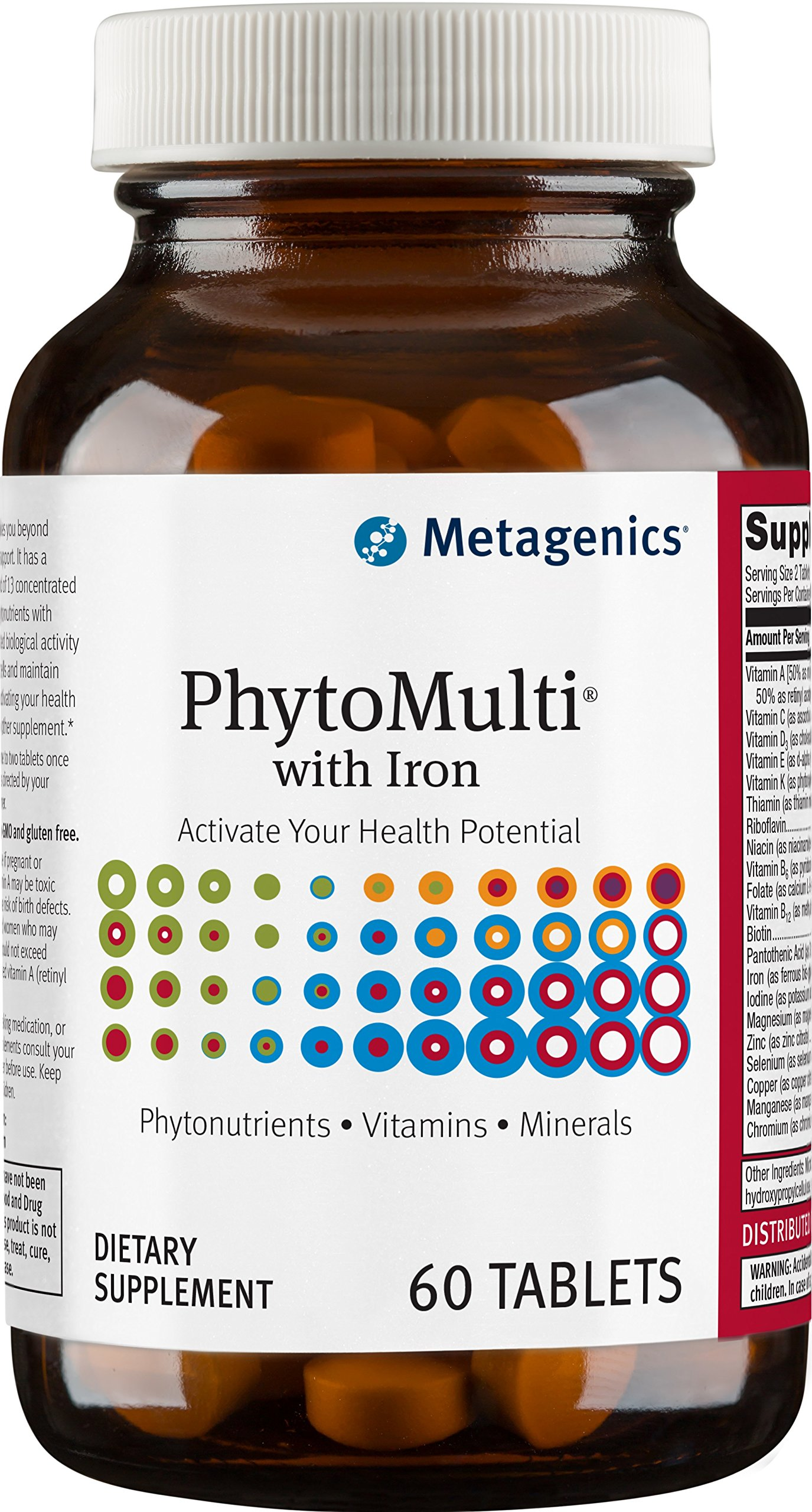 Metagenics Phytomulti with Iron, 60 Count