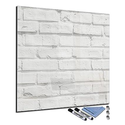 Pizarra magnética de cristal 30 x 30 cm Whiteboard pared se ...