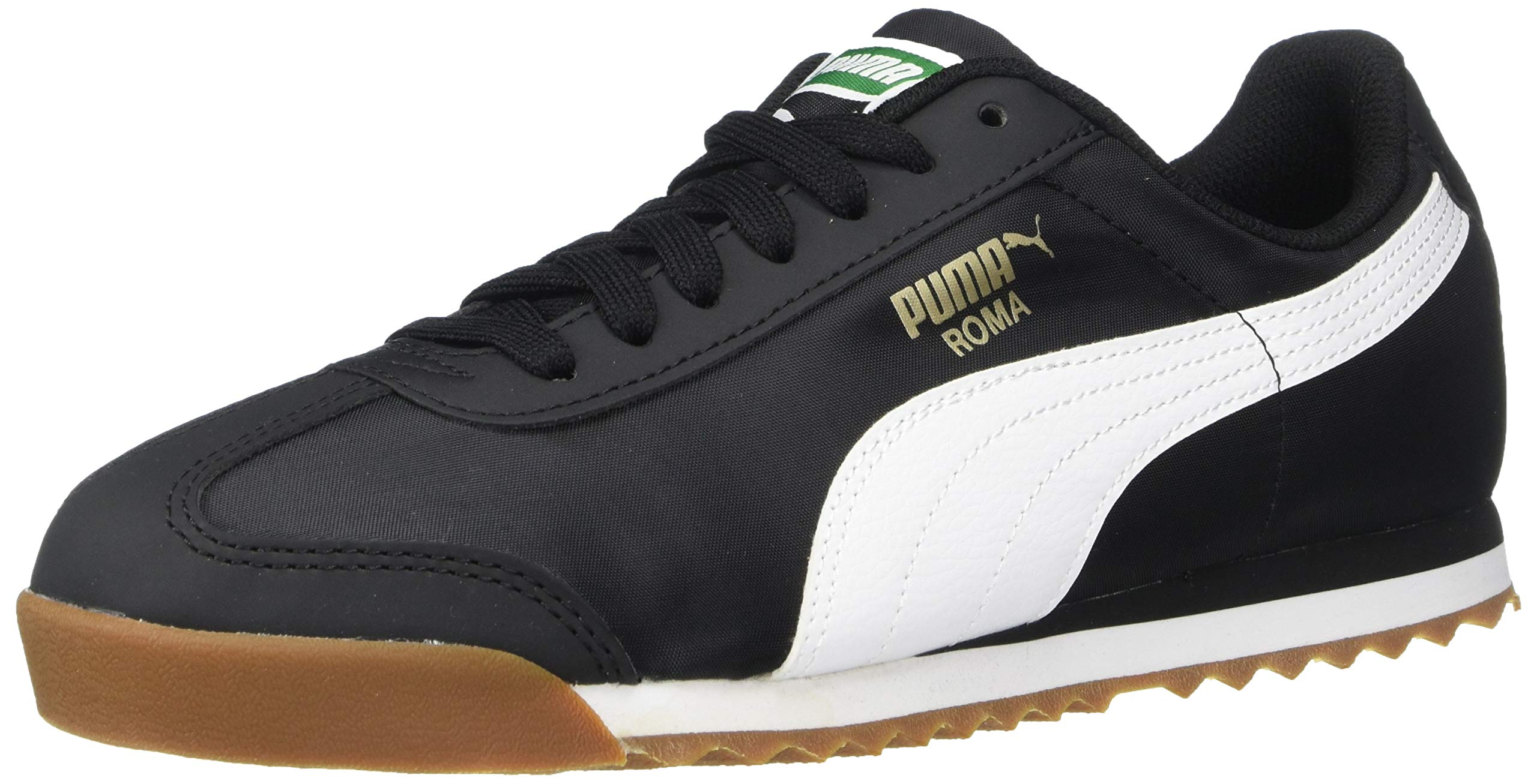 PUMA Baby Roma Basic Sneaker, Black White, 4 M US Toddler