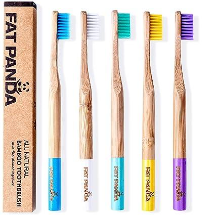Pincel de dientes de bambú. Pasta de dientes natural, biodegradable, sin BPA,