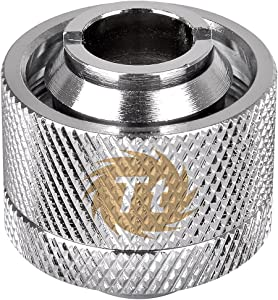 "Thermaltake Pacific DIY LCS 1/2"" ID X 3/4"" OD Compression Fitting Chrome Cooling CL-W030-CA00SL-A"