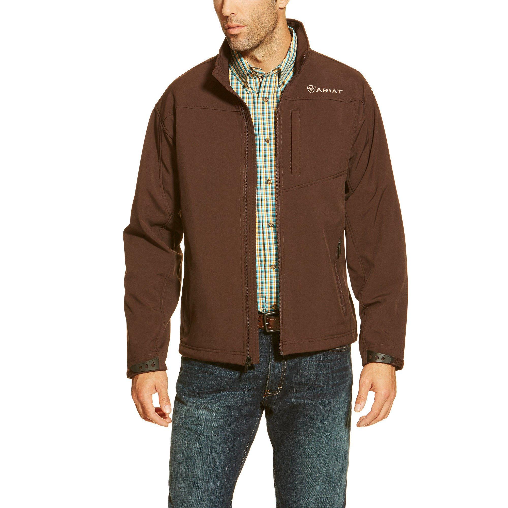 Ariat Men's Vernon Softshell Jacket, Coffee Bean, X-Large