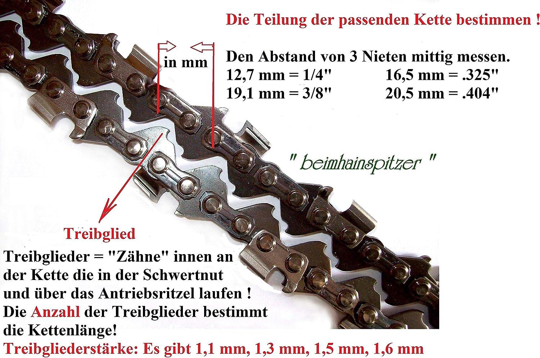 2 x S/ägekette 35 cm 3//8 x 1,1 f/ür Matrix Akku Kettens/äge BCS 40V Li