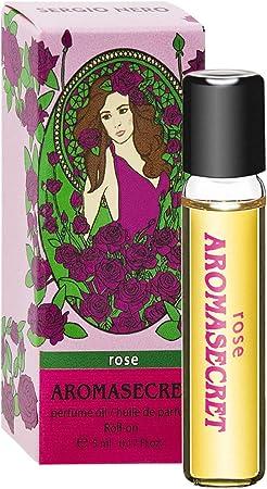 Imagen deAROMASECRET Aceite de perfume para mujer 5 ml roll-on miniatura – Nueva Concepción de Perfume (ROSE)