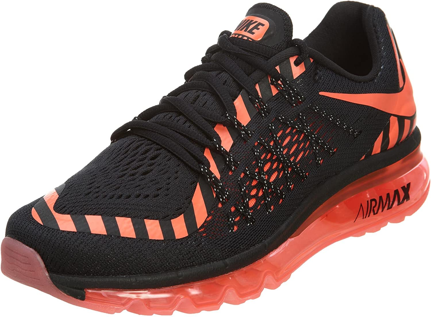 Nike 746683 011 Air Max 2015 Nr Womens Sneakers Nikeblack Hot Lava Dark Grey Noirm Road Running