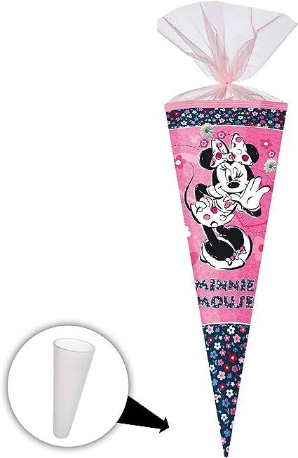 passend f/ür Schult/üte Nestler rund oder eckig.. Disney 22 // 35 // 50 // 70 // 85 cm Schleife Minnie Mouse ALLE Gr/ö/ßen alles-meine.de GmbH personalisierte 3D B/änder Zuckert/üte