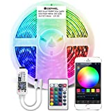 WiFi Smart RGBW LED Strip Lights 16.4ft Kit Works with Amazon Alexa and Google Assistant,Smart WiFi LED Controller with…