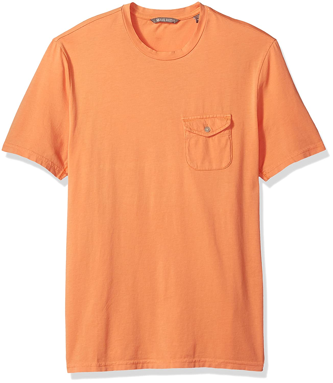 Michael Bastian Mens Short Sleeve Cotton Crewneck T-Shirt