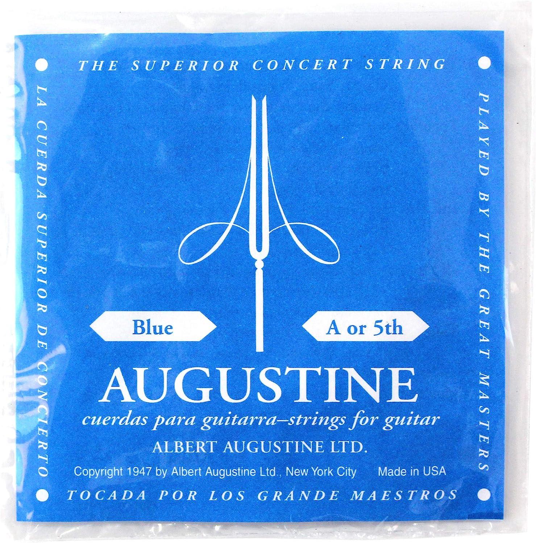 Augustine Cuerdas para Guitarra Clásica, Azul, La5, Tensión Alto