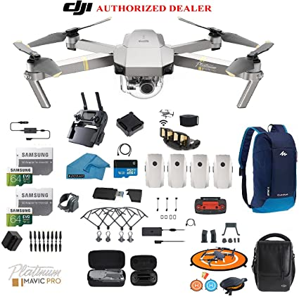 05ddf924eac DJI Mavic Pro Platinum - Drone - Quadcopter - Fly More Combo - with 4  Batteries