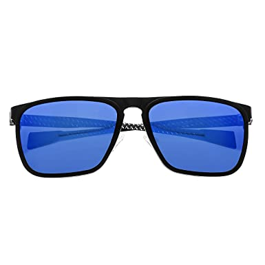 1f6b6533f2ef Amazon.com: Breed Capricorn Titanium Sunglasses - Black/Blue: Shoes