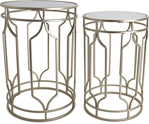 Round End Table Set